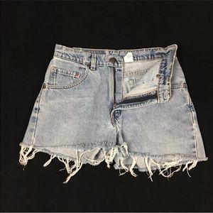 Levi's 560 Cutoff Jeans Shorts W31 Distressed VNTG